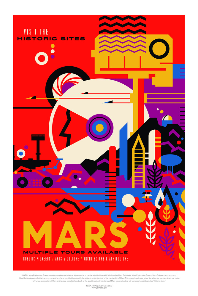 Mars, visit the historic sites - fotokunst von Nasa / Jpl - Visions Of The Future