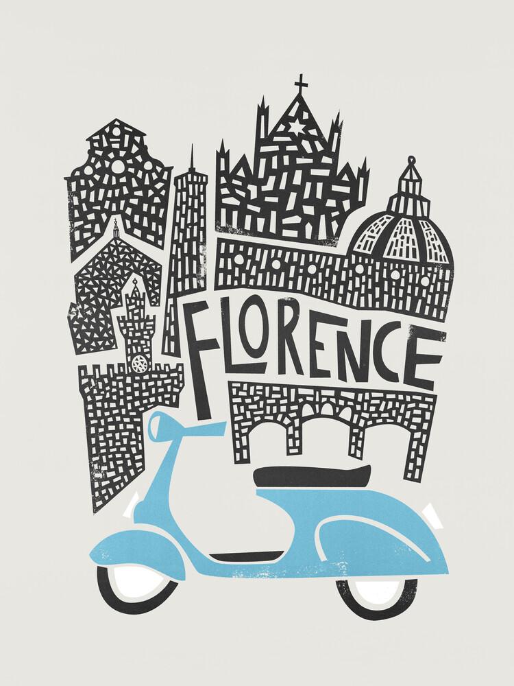 Florence Cityscape - fotokunst von Fox And Velvet