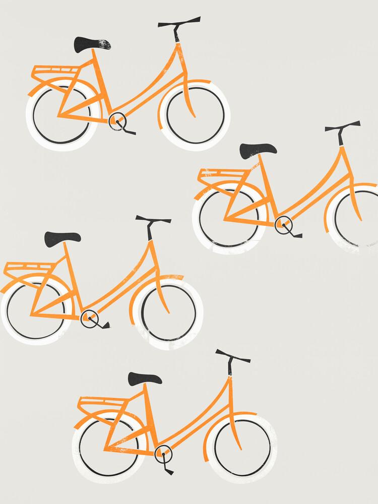 Orange Bicycles - fotokunst von Fox And Velvet