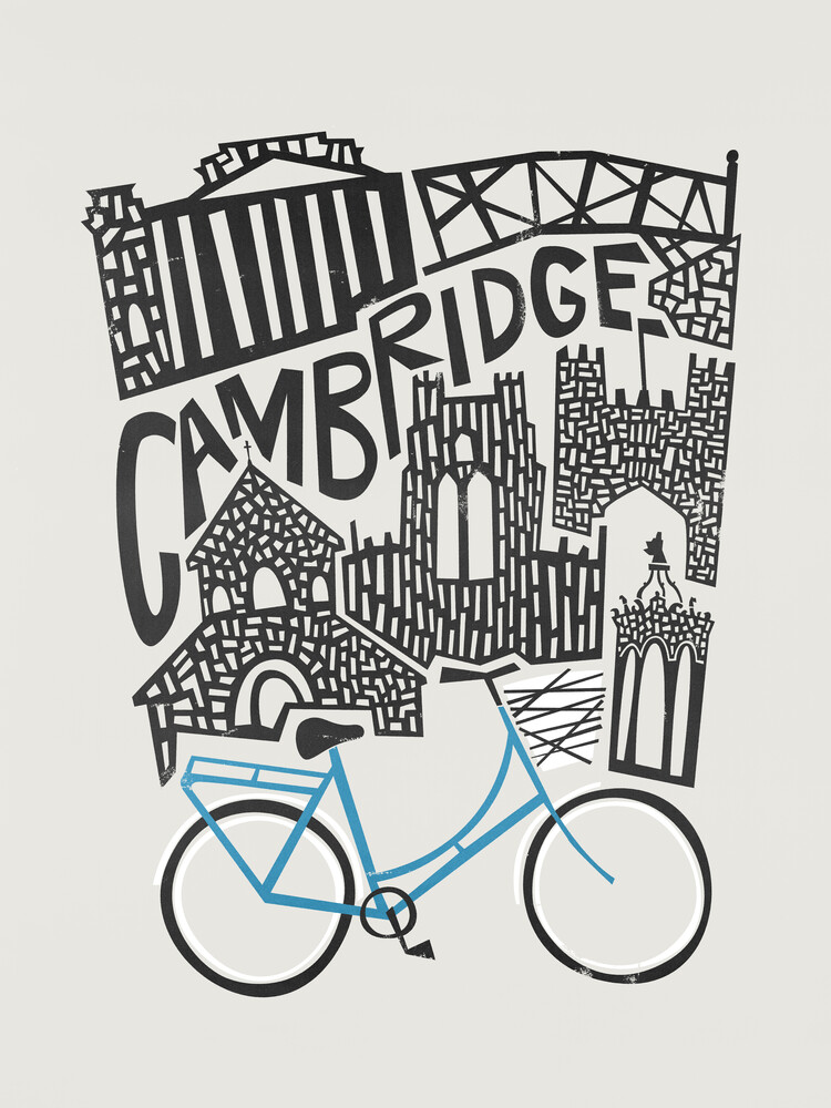 Cambridge Cityscape - fotokunst von Fox And Velvet