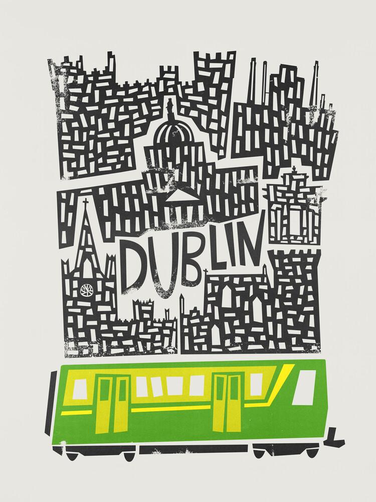 Dublin Cityscape - fotokunst von Fox And Velvet