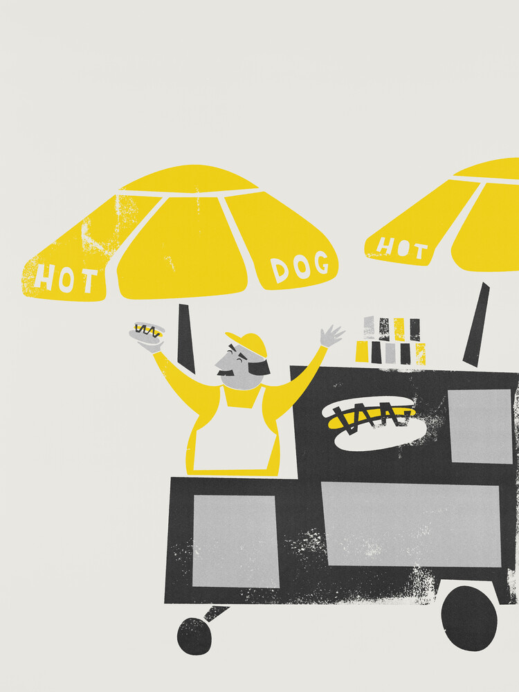 The New York Hot Dog Vendor - fotokunst von Fox And Velvet