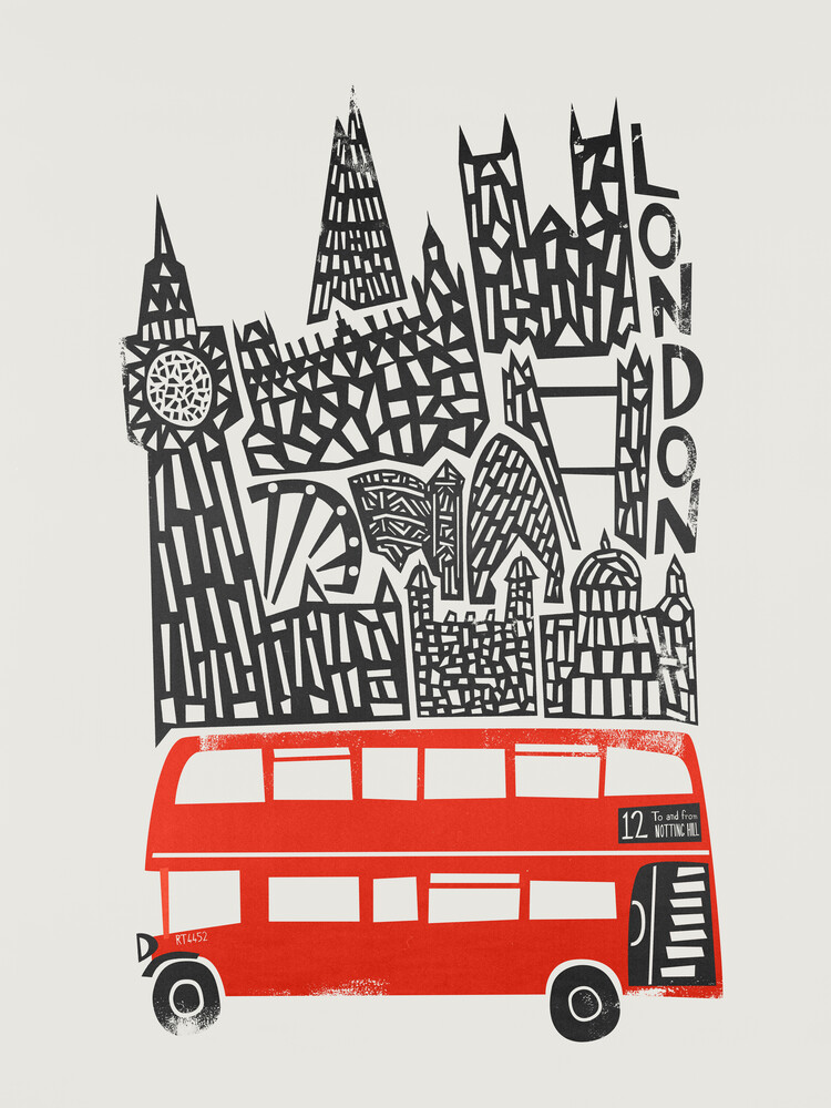 London Cityscape - fotokunst von Fox And Velvet