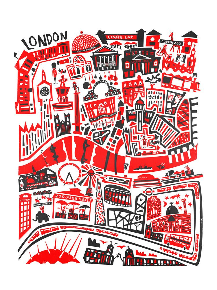 London Map - fotokunst von Fox And Velvet
