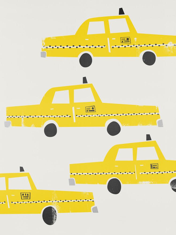 NYC Taxis - fotokunst von Fox And Velvet