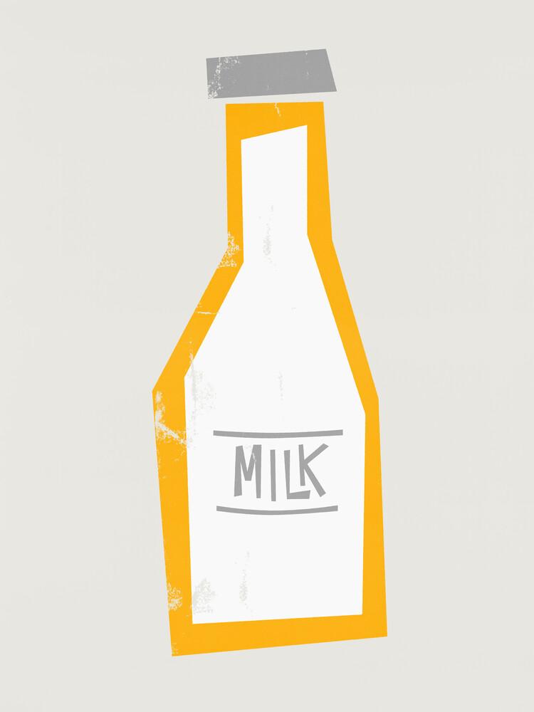 Mid Century Milk Bottle - fotokunst von Fox And Velvet