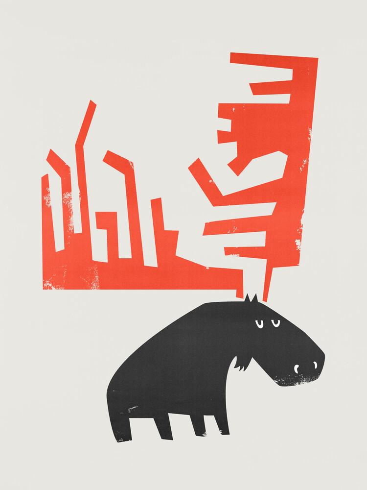 Grumpy Moose - fotokunst von Fox And Velvet