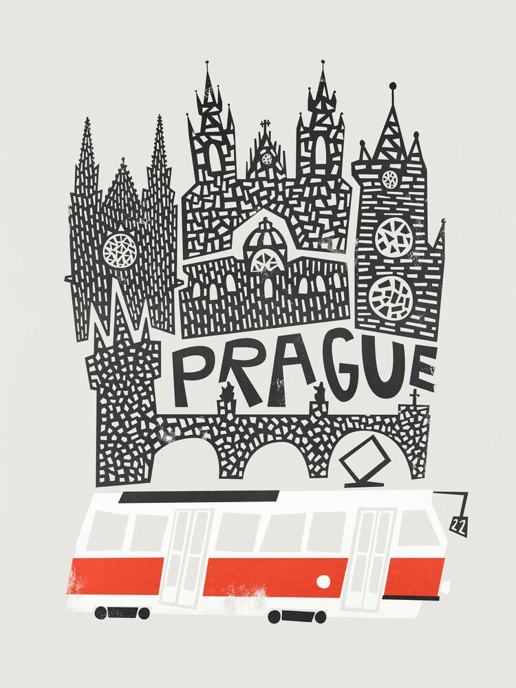 Prague Cityscape - fotokunst von Fox And Velvet