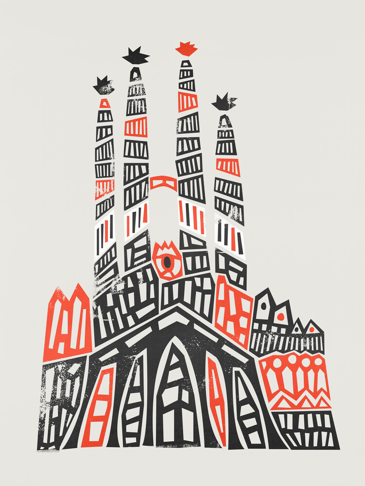 Sagrada Familia - fotokunst von Fox And Velvet