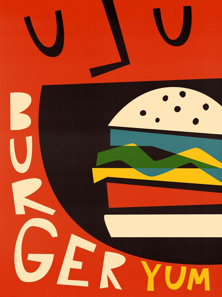 Yum Burger - fotokunst von Fox And Velvet