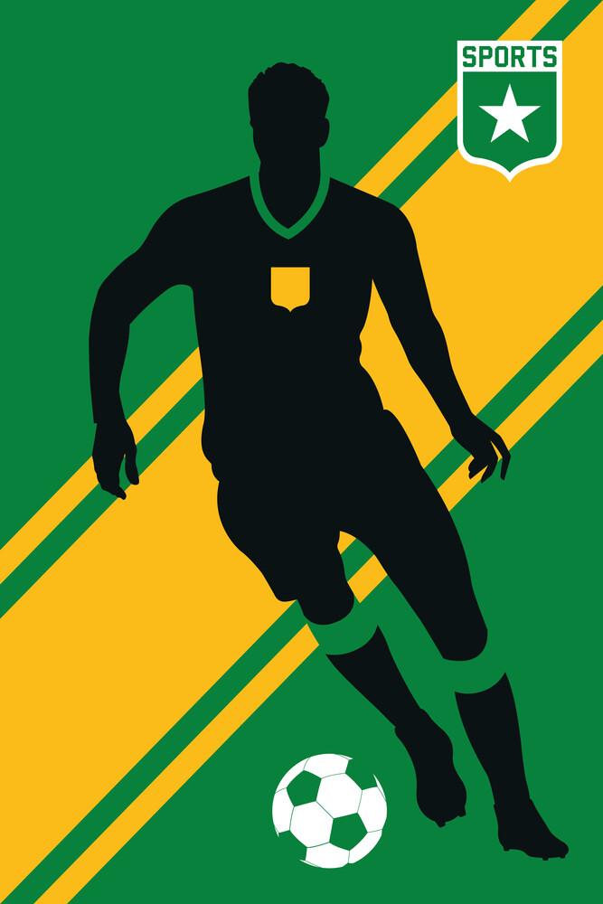 Football player - fotokunst von Bo Lundberg