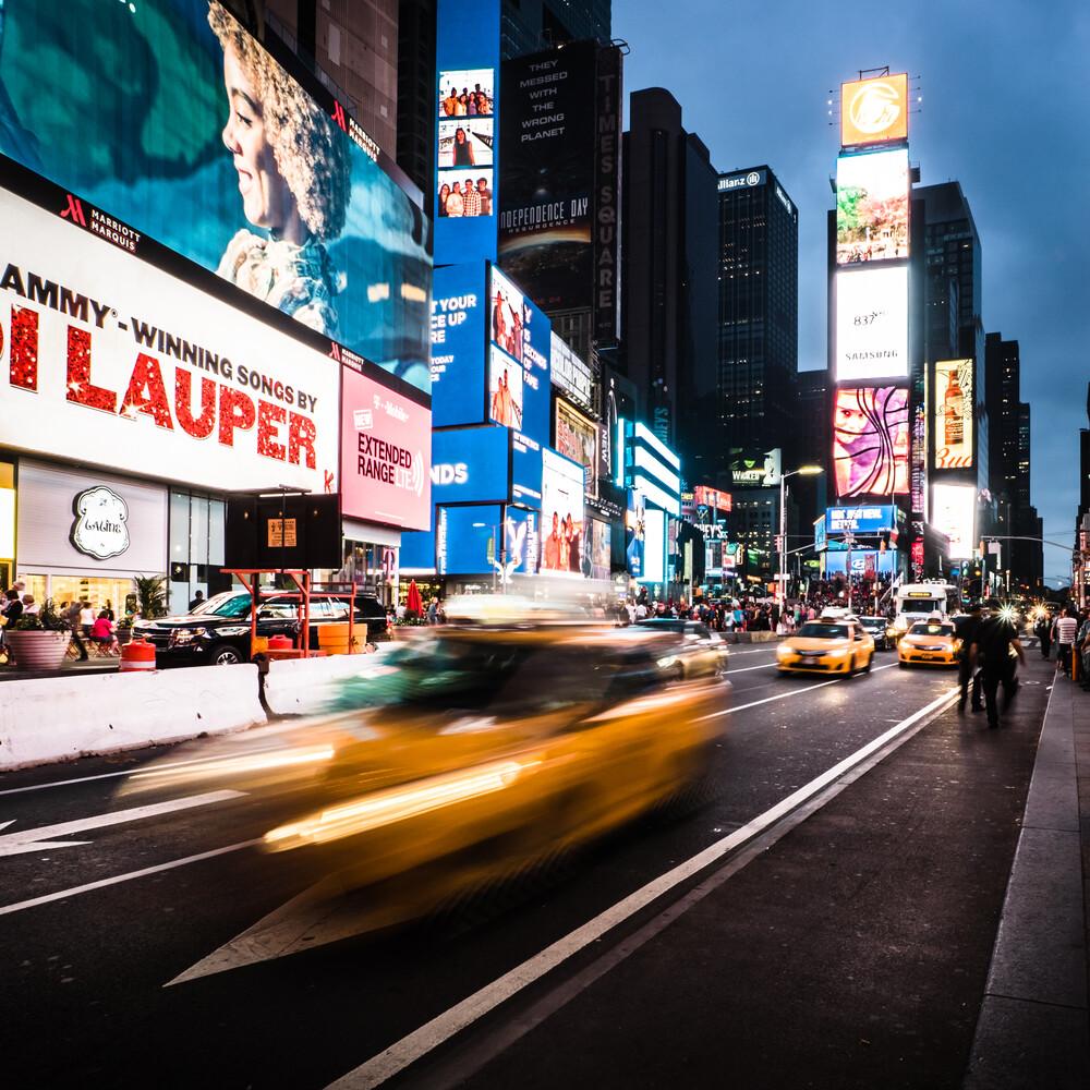 TIME SQUARE - NYC - fotokunst von Christian Janik