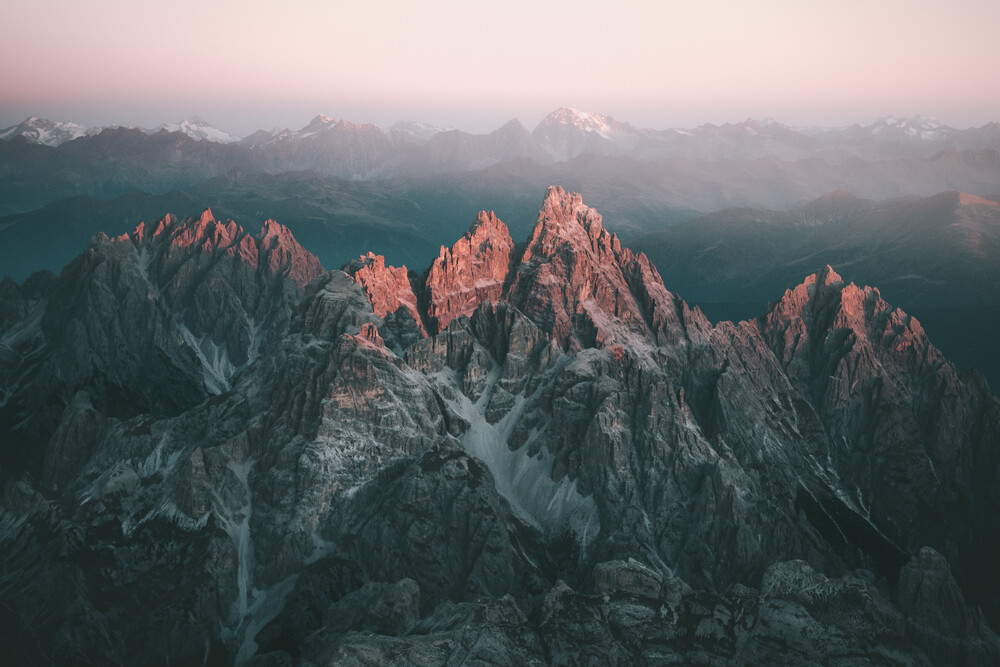 First Light upon the Dolomites. - Fineart photography by Johannes Höhn