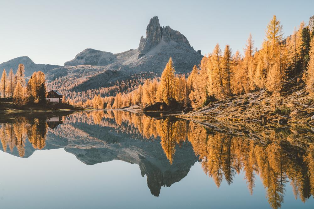 Herbstfarben in den Dolomiten - fotokunst von Roman Königshofer