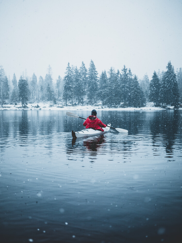 Paddling in the Winter - Fineart photography by Luca Jaenichen