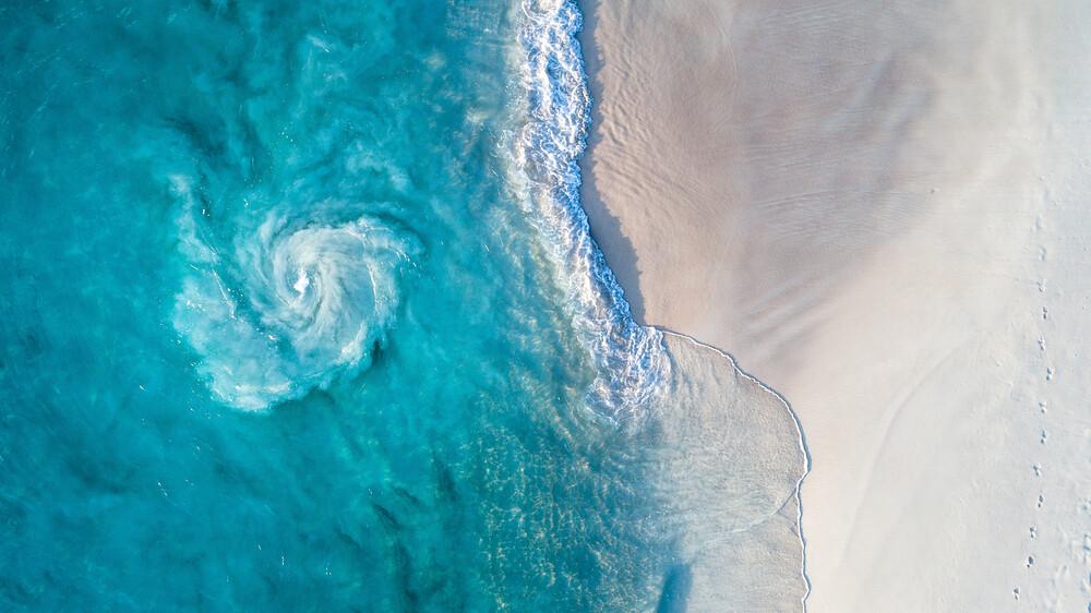 Seychellen Tramustrand von oben - fotokunst von Jean Claude Castor