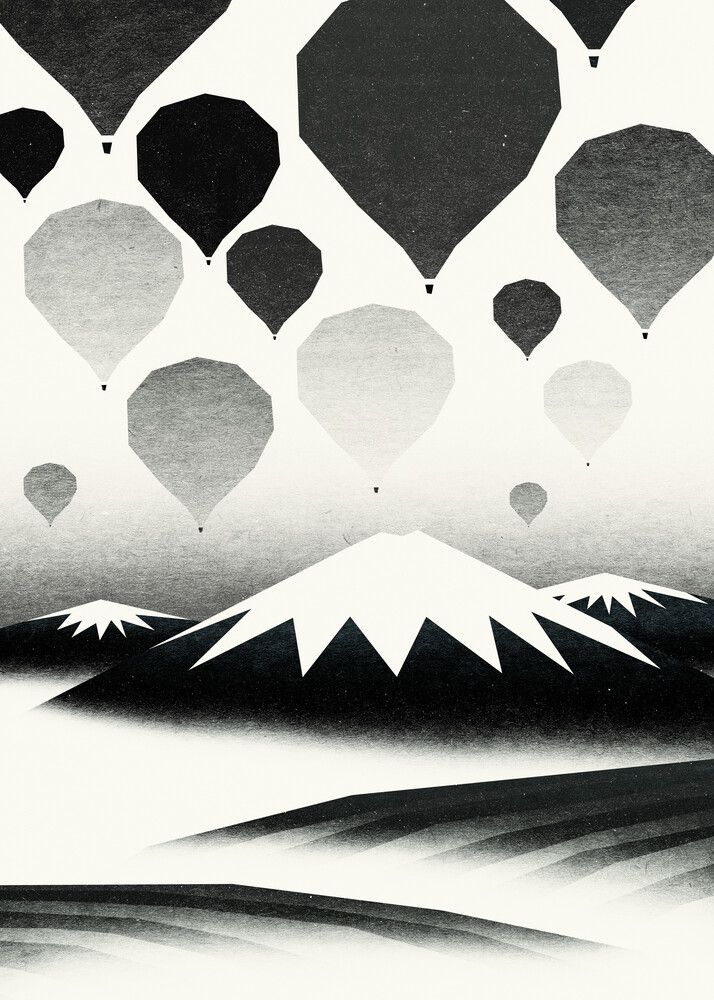 Morning wind balloons - Fineart photography by Sjoerd Piepenbrink