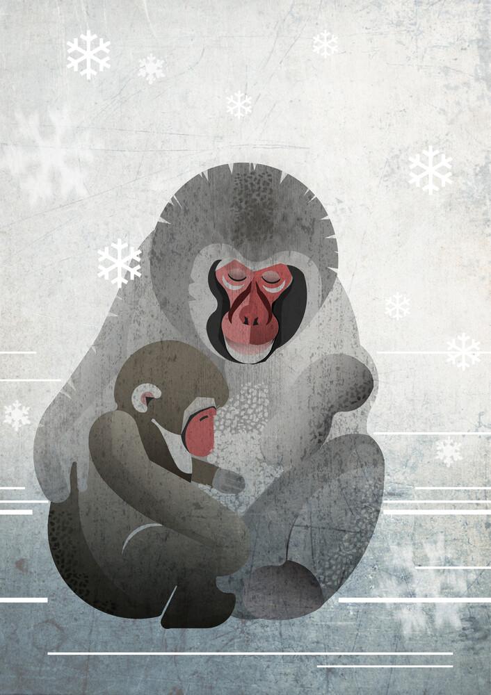 Makaken - fotokunst von Sabrina Ziegenhorn