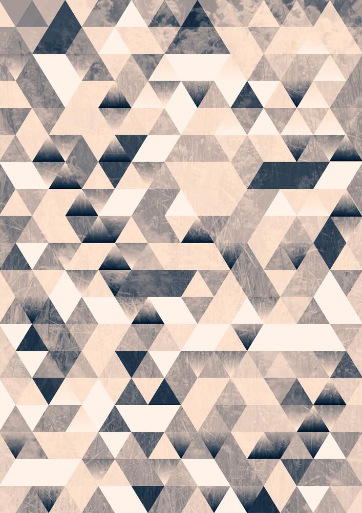 Dreiecke monochrom - fotokunst von Sabrina Ziegenhorn