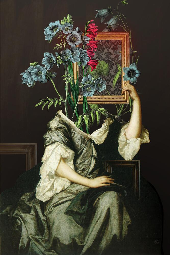 Florales Portrait Disaster - fotokunst von Marko Köppe
