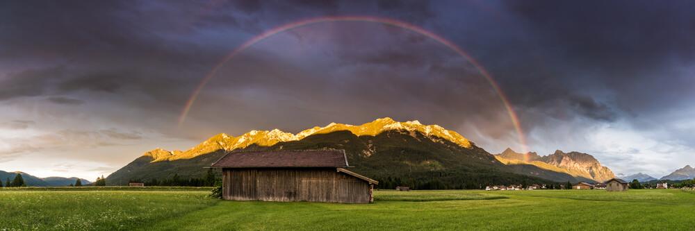 Bunter Sommerabend im Karwendel - fotokunst von Martin Wasilewski
