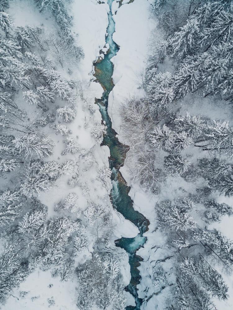 Frozen Creek - fotokunst von Gergo Kazsimer