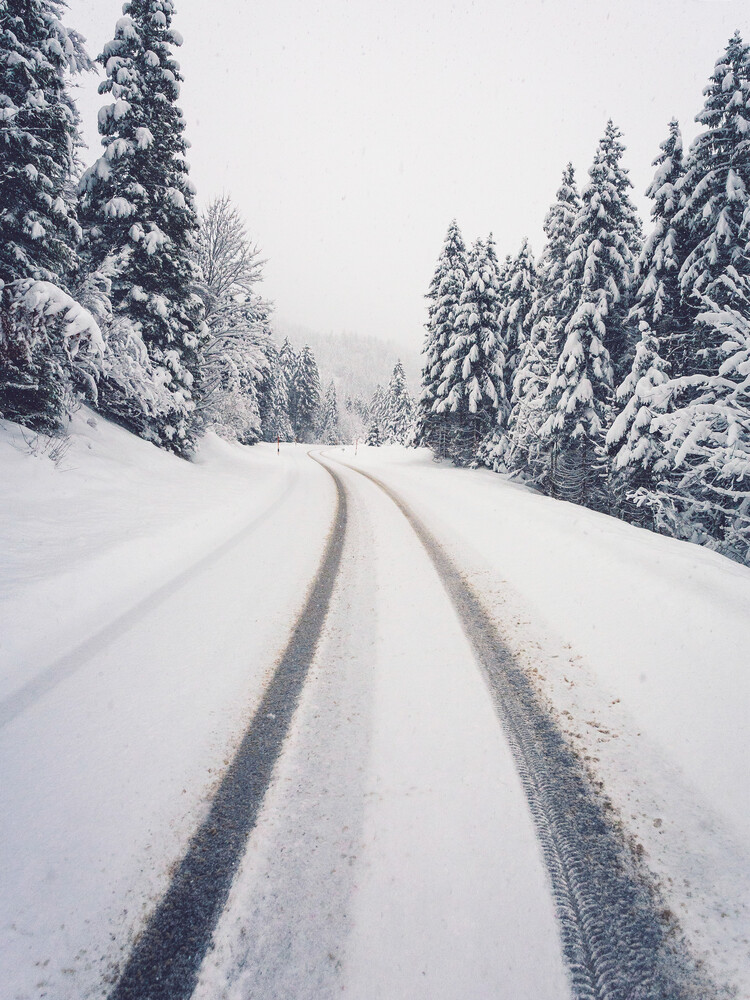 Snowy Road To The Mountains - Fineart photography by Gergo Kazsimer