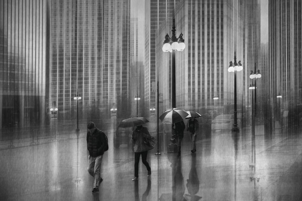 Regen in Chicago - fotokunst von Roswitha Schleicher-Schwarz