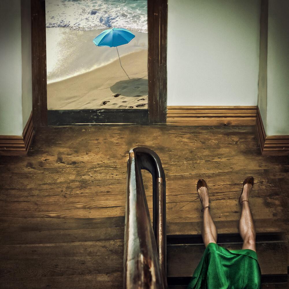 Wer nicht schwimmen kann, der taucht! - fotokunst von Ambra