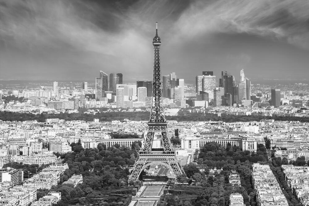 Paris Skyline | Monochrom - fotokunst von Melanie Viola