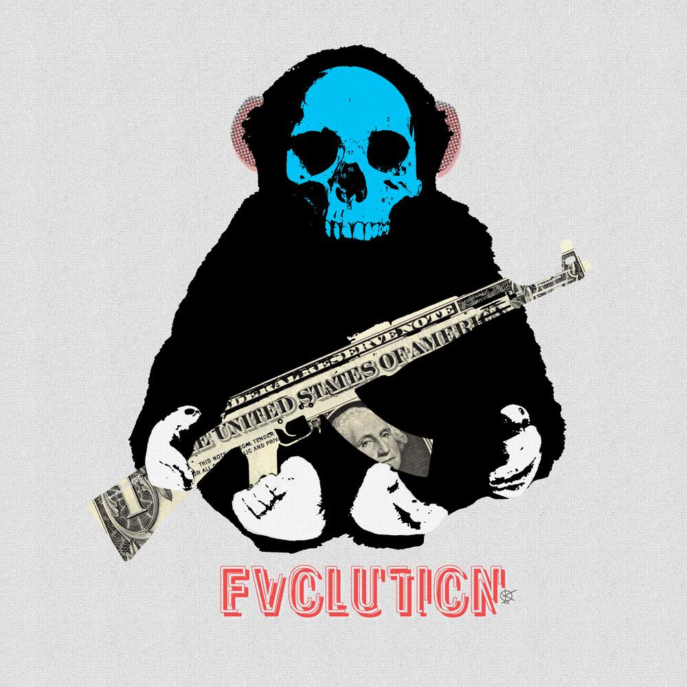 Evolution 2 · the monkey man and the gun - fotokunst von Marko Köppe