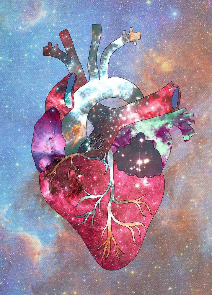 Superstar Heart In Space - fotokunst von Bianca Green