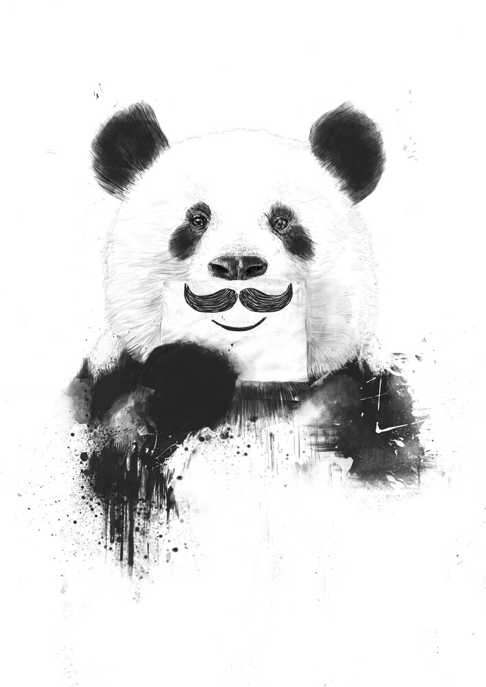 Funny panda - fotokunst von Balazs Solti