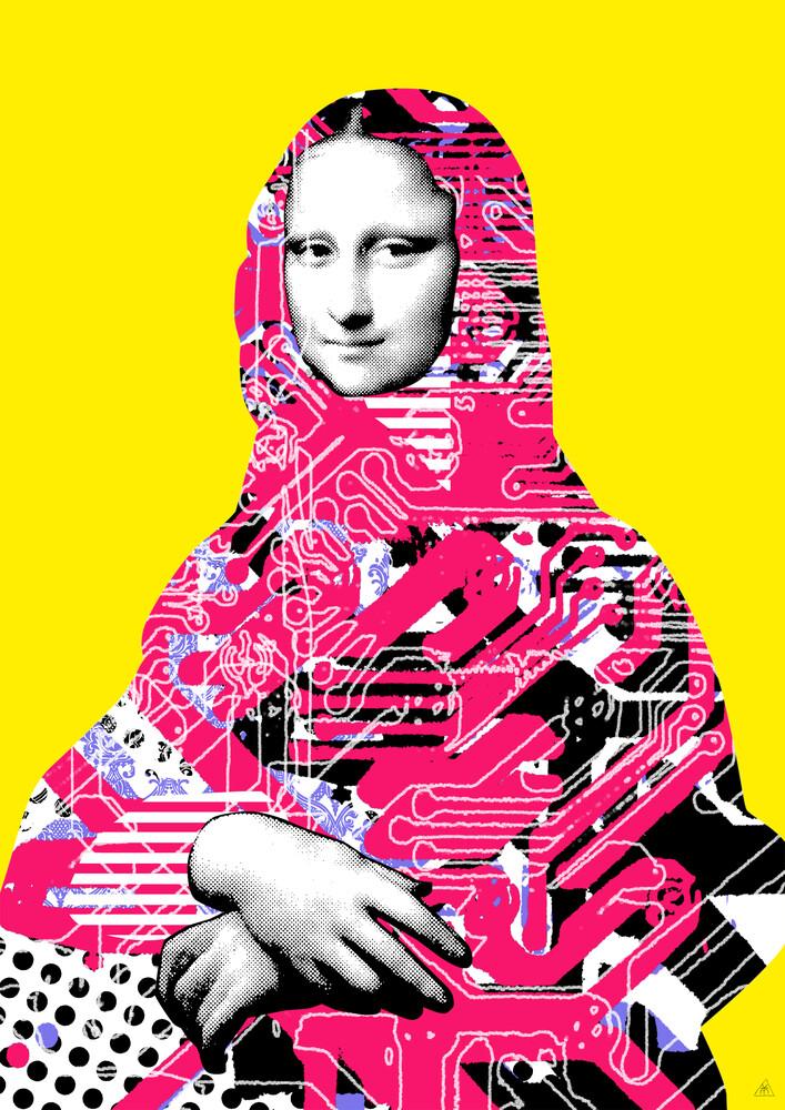 Mona Lisa Platina 6 - fotokunst von Marko Köppe
