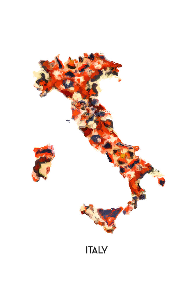 Map of Italy - Fineart photography by Karl Johansson