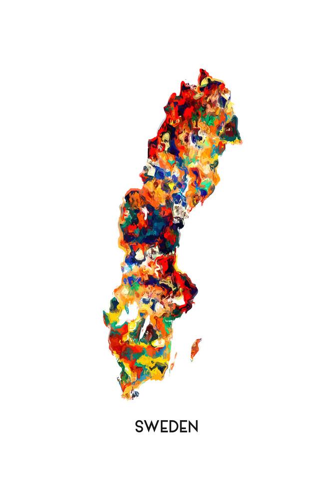 Map of Sweden - fotokunst von Karl Johansson