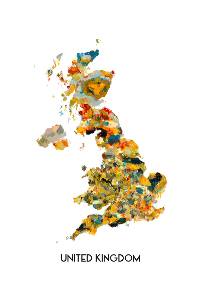 Map of UK - Fineart photography by Karl Johansson