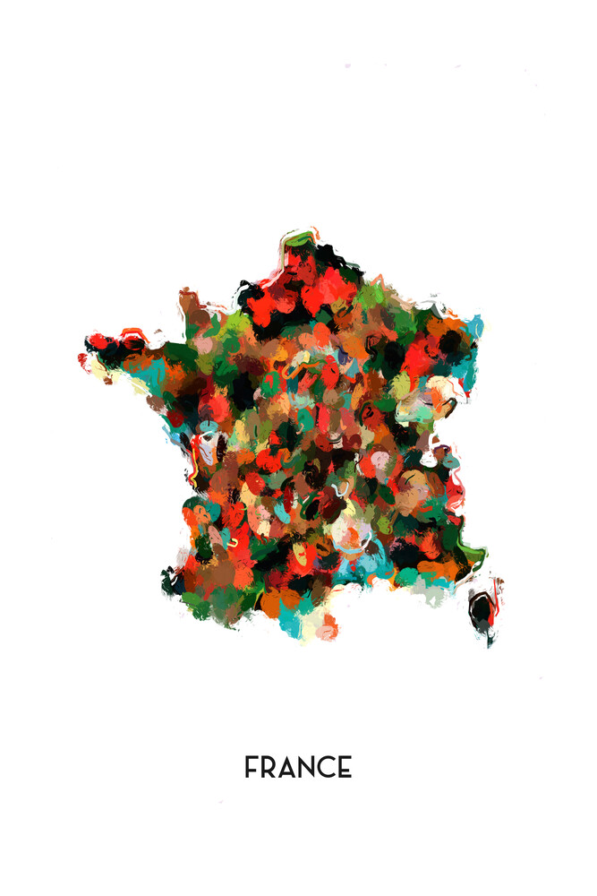 Map of France - Fineart photography by Karl Johansson