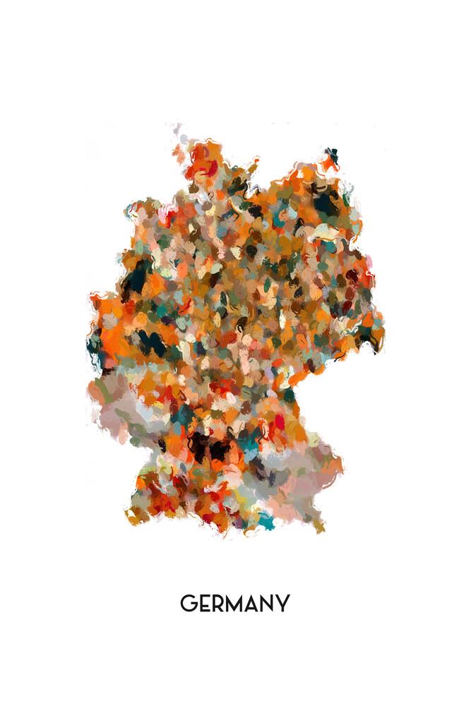 Map of Germany - fotokunst von Karl Johansson