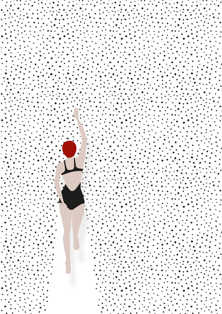 Punktschwimmer - fotokunst von Christina Ernst