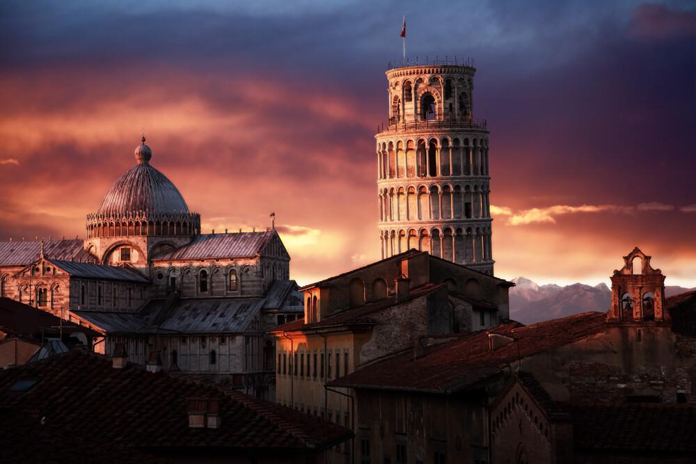 schiefe Turm von Pisa - fotokunst von Jürgen Wiesler