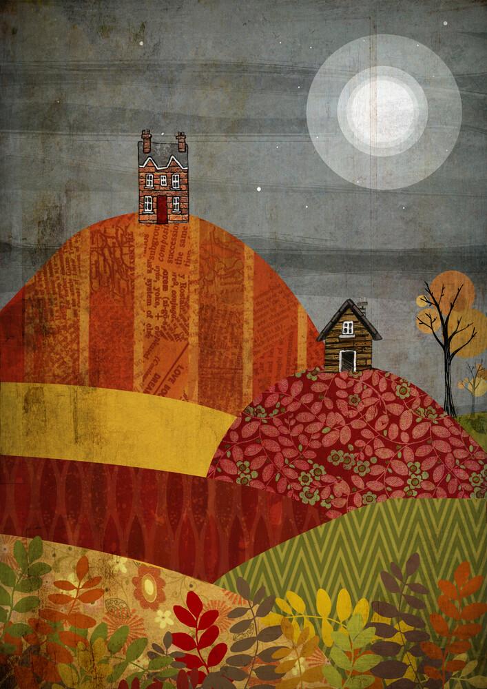 Autumn Village - fotokunst von Katherine Blower