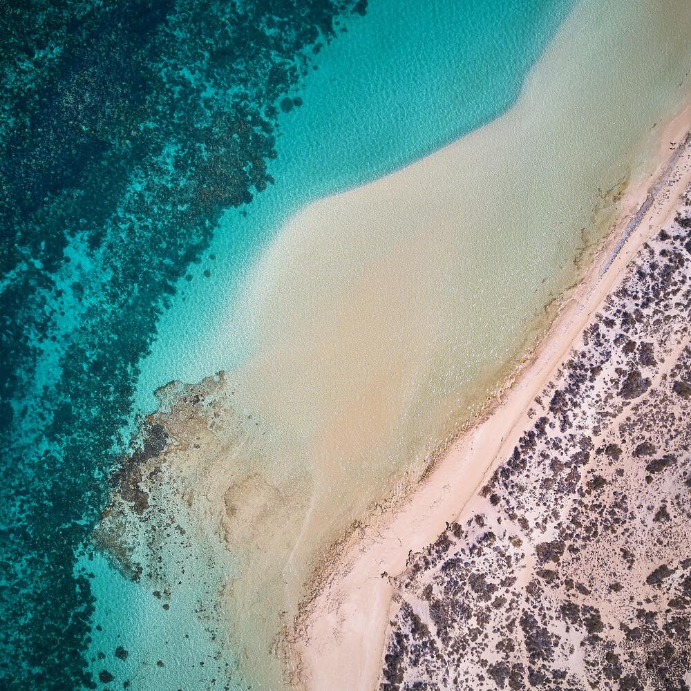 The Wave - Coral Bay (square) - fotokunst von Sandflypictures - Thomas Enzler