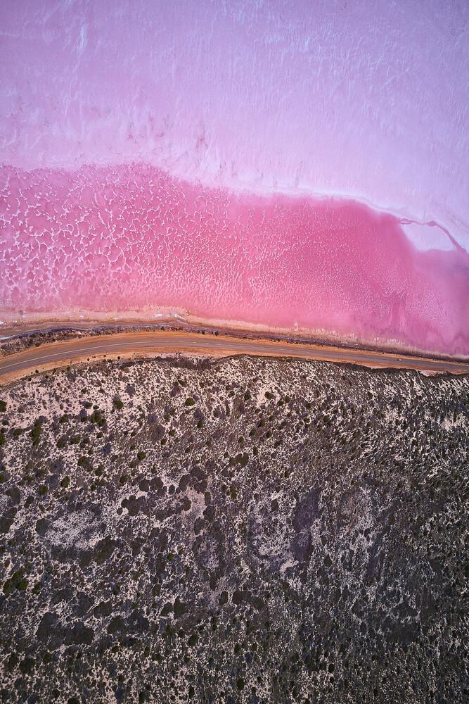 Pink Lake - fotokunst von Sandflypictures - Thomas Enzler
