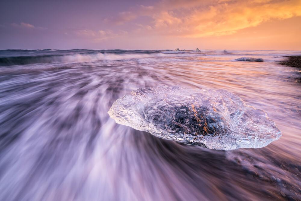 Eis am Diamantstrand - fotokunst von Michael Stein