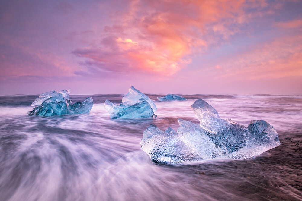 Eis in der Brandung - fotokunst von Michael Stein