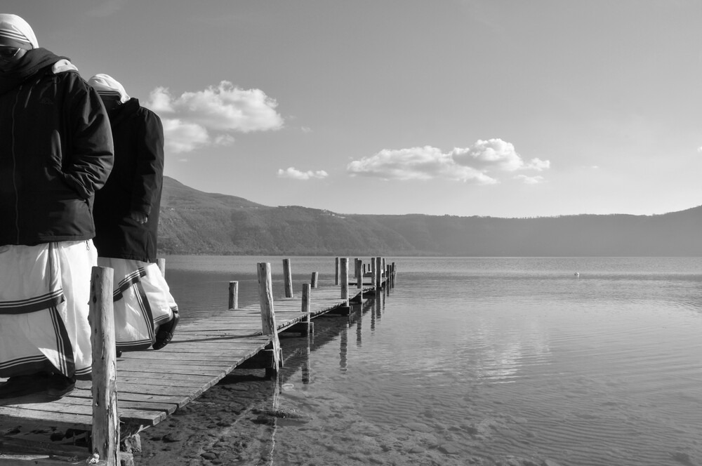 Sisters on the lake - Fineart photography by Domenico Piccione