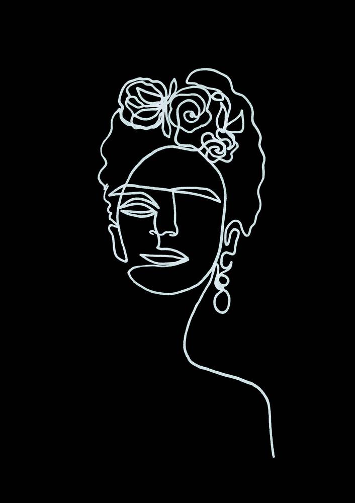 Frida Kahlo BW - Fineart photography by Julia Hariri