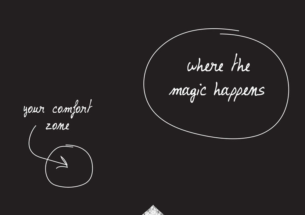 Comfort zone. Where the magic happens. - fotokunst von The Quote