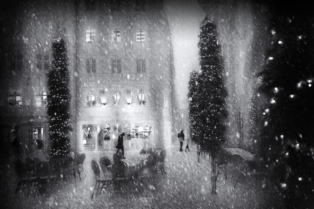 Weihnachten in der Stadt - fotokunst von Roswitha Schleicher-Schwarz
